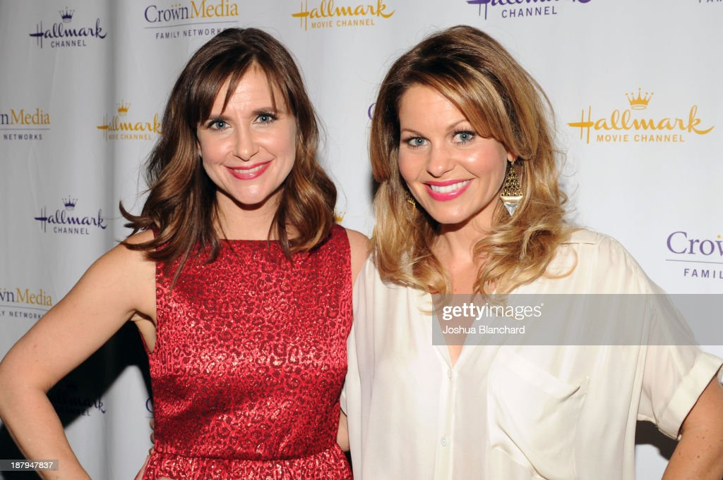 Actresses <a gi-track='captionPersonalityLinkClicked' href=/galleries/search?phrase=Kellie+Martin&family=editorial&specificpeople=240343 ng-click='$event.stopPropagation()'>Kellie Martin</a> (L) and Candice Cameron arrive at the Hallmark Channel's Annual Holiday Event Premiering 'The Christmas Ornament' at La Piazza Restaurant on November 13, 2013 in Los Angeles, California.