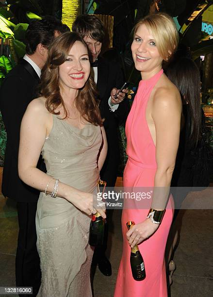 Actresses Kelly Macdonald and Claire Danes attend HBO's 68th Annual Golden Globe Awards Official After Party held at The Beverly Hilton hotel on...