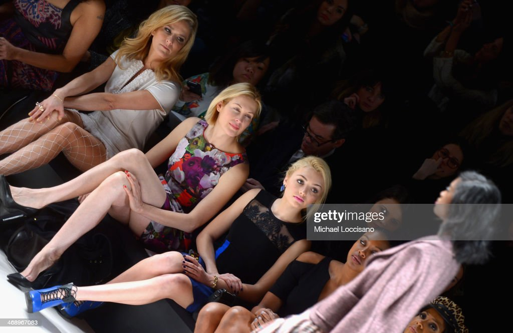 Actresses <a gi-track='captionPersonalityLinkClicked' href=/galleries/search?phrase=Kelly+Rutherford&family=editorial&specificpeople=217987 ng-click='$event.stopPropagation()'>Kelly Rutherford</a> and Peyton List attend the Nanette Lepore fashion show during Mercedes-Benz Fashion Week Fall 2014 at The Salon at Lincoln Center on February 12, 2014 in New York City.