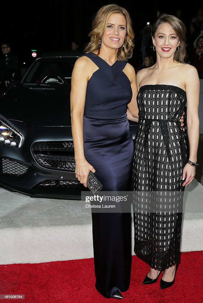 Actresses Kim Dickens (L) and Carrie Coon arrive with Mercedes-Benz at the 26th annual Palm Springs International Film Festival Awards Gala on January 3, 2015 in Palm Springs, California.