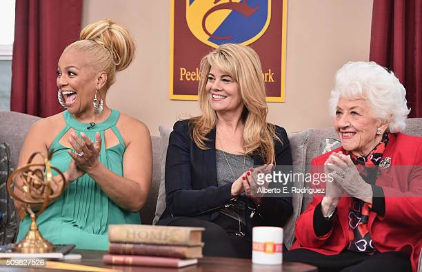 Actresses Kim Fields Lisa Whelchel and Charlotte Rae attend Hallmark's Home and Family 'Facts Of Life Reunion' at Universal Studios Backlot on...