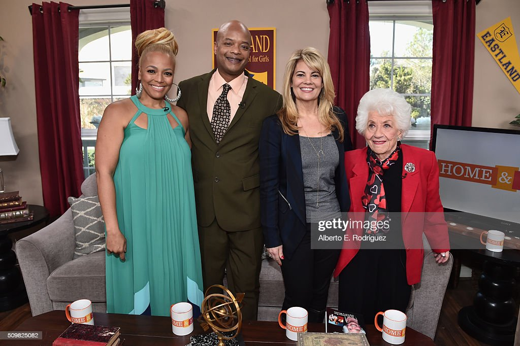 Actresses Kim Fields Todd Bridges Lisa Whelchel and Charlotte Rae attend Hallmark's Home and Family 'Facts Of Life Reunion' at Universal Studios...
