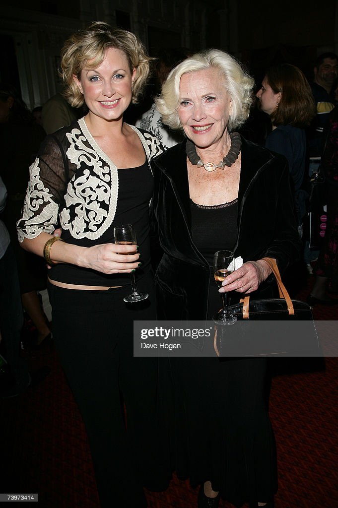 Actresses Kim Medcalf (L) and Honor Blackman attend the after-party following the 250th performance of 'Cabaret' at the Lyric Theatre on April 24, 2007 in London, England.