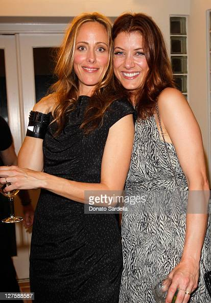 Actresses Kim Raver and Kate Walsh attend Sunset Cocktails Presented By Leifsdottir on March 12 2011 in Sherman Oaks California