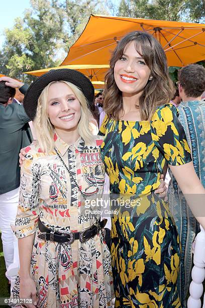 Actresses Kristen Bell and Mandy Moore attend the Seventh Annual Veuve Clicquot Polo Classic Los Angeles at Will Rogers State Historic Park on...