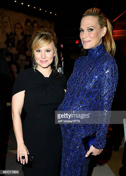 Actresses Kristen Bell and Molly Sims attend the 2015 Vanity Fair Oscar Party hosted by Graydon Carter at the Wallis Annenberg Center for the...