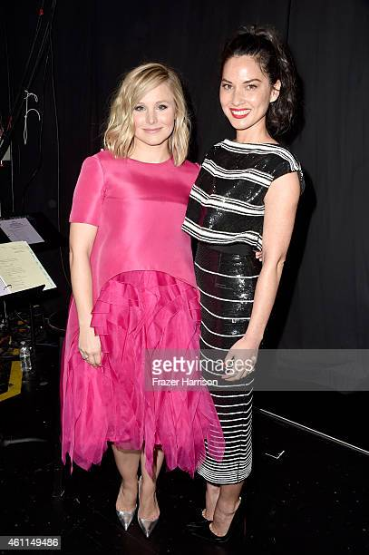 Actresses Kristen Bell and Olivia Munn attend the The 41st Annual People's Choice Awards at Nokia Theatre LA Live on January 7 2015 in Los Angeles...