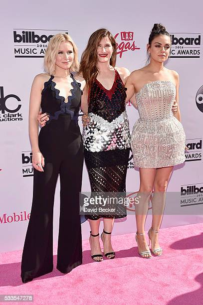 Actresses Kristen Bell Kathryn Hahn and Mila Kunis attend the 2016 Billboard Music Awards at TMobile Arena on May 22 2016 in Las Vegas Nevada