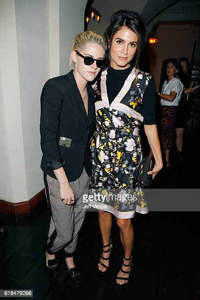 Actresses Kristen Stewart and Nikki Reed at the CFDA/Vogue Fashion Fund Show and Tea presented by kate spade new york at Chateau Marmont on October...
