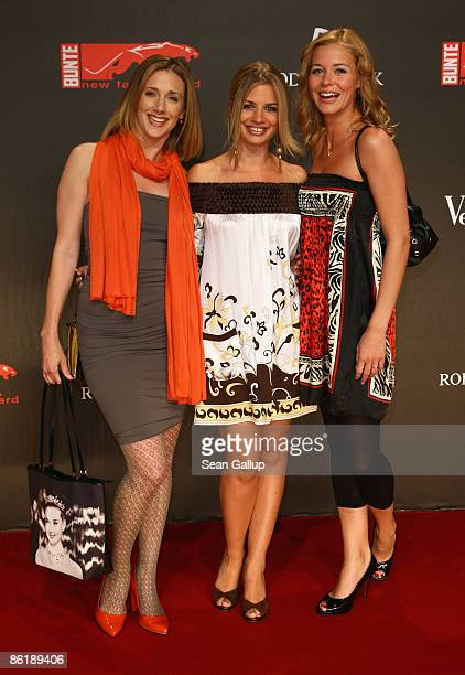 Actresses Kristin Meyer Susan Sideropoulos and Jessica Ginkel attend the 2009 ''New Faces'' awards at the BCC on April 23 2009 in Berlin Germany
