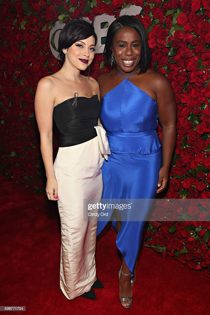 Actresses Krysta Rodriguez and Uzo Aduba attend the 70th Annual Tony Awards at The Beacon Theatre on June 12, 2016 in New York City.