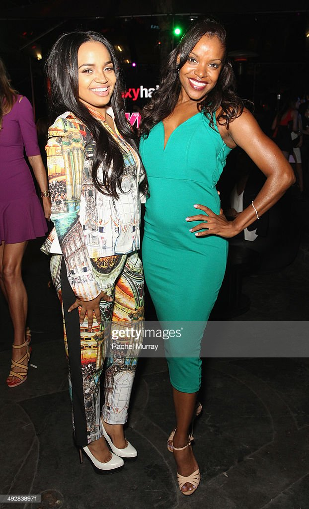 Actresses Kyla Pratt and Nadine Ellis attend OK Magazine's So Sexy LA Event at LURE on May 21 2014 in Los Angeles California