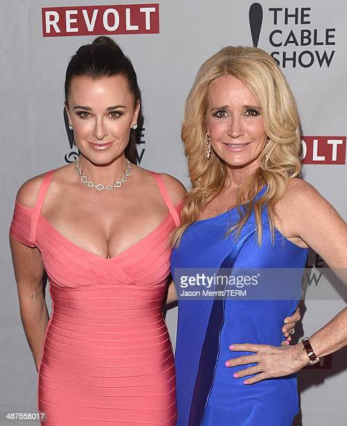 Actresses Kyle Richards and Kim Richards attend the REVOLT NCTA Host VIP Gala For Talent Cable Execs at Belasco Theatre on April 30 2014 in Los...