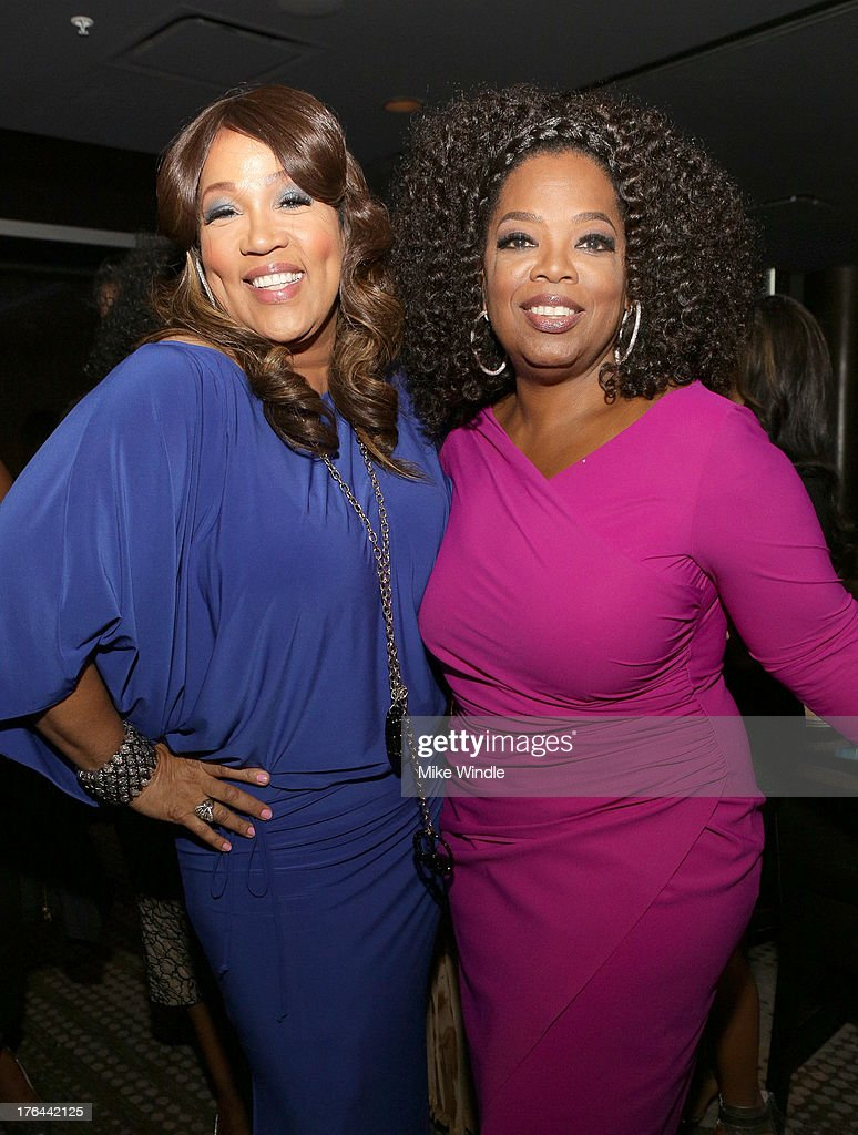 Actresses <a gi-track='captionPersonalityLinkClicked' href=/galleries/search?phrase=Kym+Whitley&family=editorial&specificpeople=242929 ng-click='$event.stopPropagation()'>Kym Whitley</a> (L) and <a gi-track='captionPersonalityLinkClicked' href=/galleries/search?phrase=Oprah+Winfrey&family=editorial&specificpeople=171750 ng-click='$event.stopPropagation()'>Oprah Winfrey</a> attend the after party for LEE DANIELS' THE BUTLER Los Angeles premiere, hosted by TWC, Budweiser and FIJI Water, Purity Vodka and Stack Wines, held at the Ritz-Carlton on August 12, 2013 in Los Angeles, California.