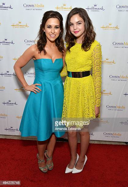 Actresses Lacey Chabert and Bailee Madison arrive at 'The Color Of Rain' premiere screening presented by the Hallmark Movie Channel at The Paley...