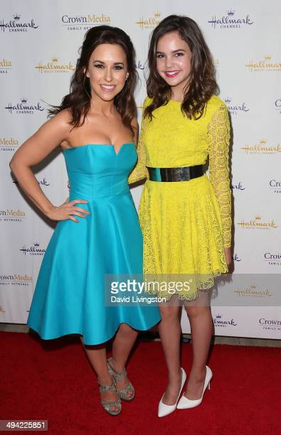 Actresses Lacey Chabert and Bailee Madison attend 'The Color of Rain' premiere screening presented by the Hallmark Movie Channel at The Paley Center...