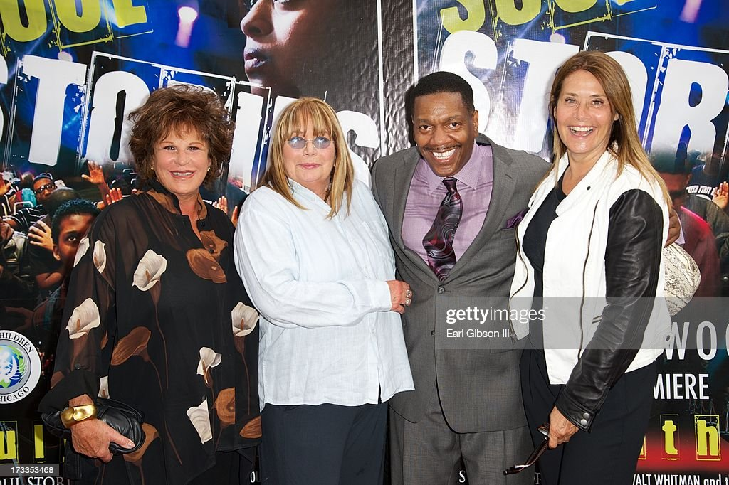Actresses Lainie Kazan, Penny Marshall, (Director) Walt Whitman and Lorraine Bracco attend the premiere of 'Soul Children Of Chicago' at Historic American Legion - Post 43 on July 11, 2013 in Los Angeles, California.