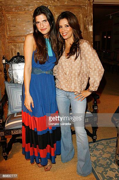 Actresses Lake Bell and Eva Longoria Parker attend the Lake Bell And Nathan Turner Host Dinner For Designer Lyn Devon on April 6 2009 in West...