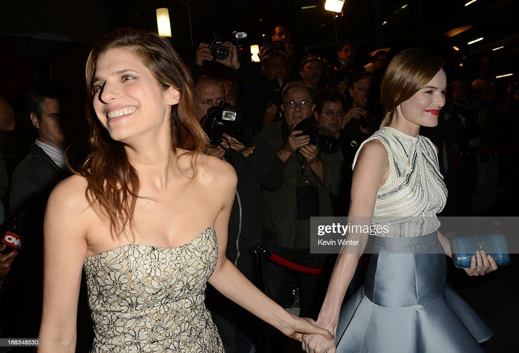 Actresses <a gi-track='captionPersonalityLinkClicked' href=/galleries/search?phrase=Lake+Bell&family=editorial&specificpeople=209336 ng-click='$event.stopPropagation()'>Lake Bell</a> (L) and <a gi-track='captionPersonalityLinkClicked' href=/galleries/search?phrase=Kate+Bosworth&family=editorial&specificpeople=201616 ng-click='$event.stopPropagation()'>Kate Bosworth</a> attend the screening of LD Entertainment's 'Black Rock' at ArcLight Hollywood on May 8, 2013 in Hollywood, California.
