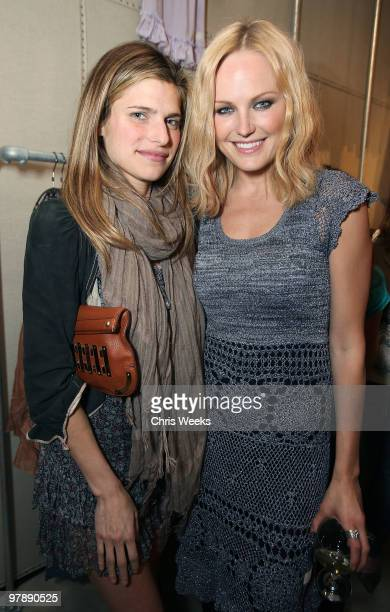 Actresses Lake Bell and Malin Akerman attend the flagship store opening of Odd Molly Boutique on March 19 2010 in Los Angeles California