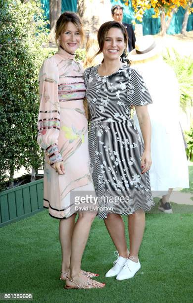 Actresses Laura Dern and Sophia Bush attend the 8th Annual Veuve Clicquot Polo Classic at Will Rogers State Historic Park on October 14 2017 in...