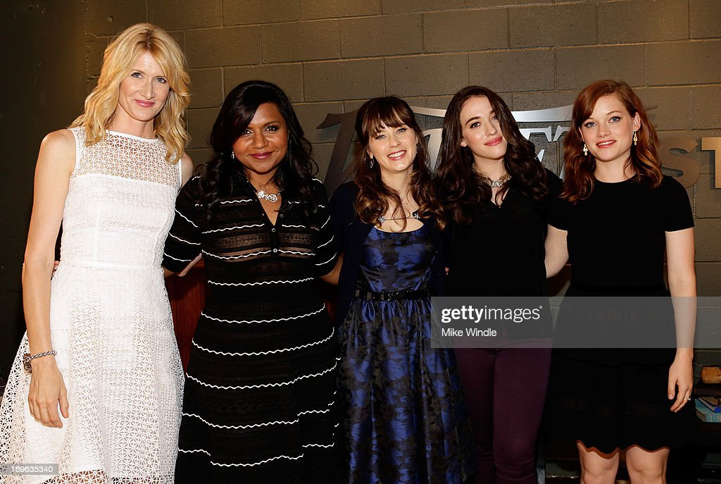 Actresses Laura Dern, Mindy Kaling, Zooey Deschanel, Kat Dennings, and Jane Levy attend the Variety Emmy Studio at Palihouse on May 29, 2013 in West Hollywood, California.