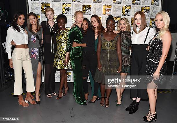 Actresses Laura Harrier Zendaya Elizabeth Debicki Danai Gurira Tilda Swinton Zoe Saldana Brie Larson Lupita Nyong'o Rachel McAdams Karen Gillan and...