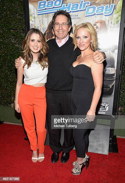 Actresses Laura Marano and LeighAllyn Baker and guest attend the Los Angeles premiere of the Disney Channel Original Movie 'Bad Hair Day' at Walt...
