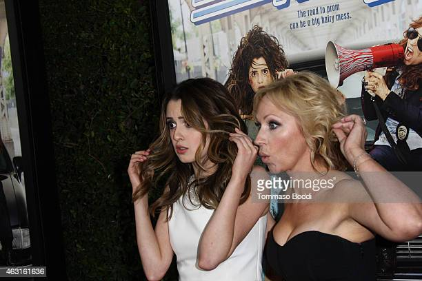 Actresses Laura Marano and LeighAllyn Baker attend the Disney Channel Original Movie 'Bad Hair Day' Los Angeles premiere held at the Walt Disney...