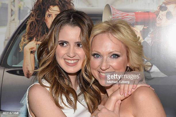 Actresses Laura Marano and LeighAllyn Baker attend the Los Angeles premiere of the Disney Channel Original Movie 'Bad Hair Day' at Walt Disney...