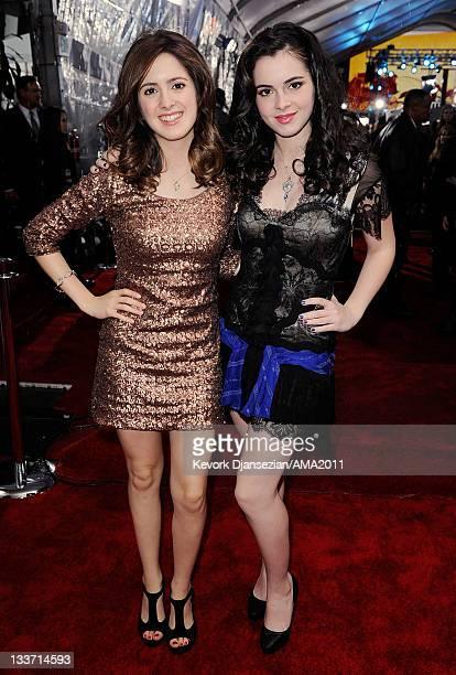 Actresses Laura Marano and Vanessa Marano arrive at the 2011 American Music Awards held at Nokia Theatre LA LIVE on November 20 2011 in Los Angeles...
