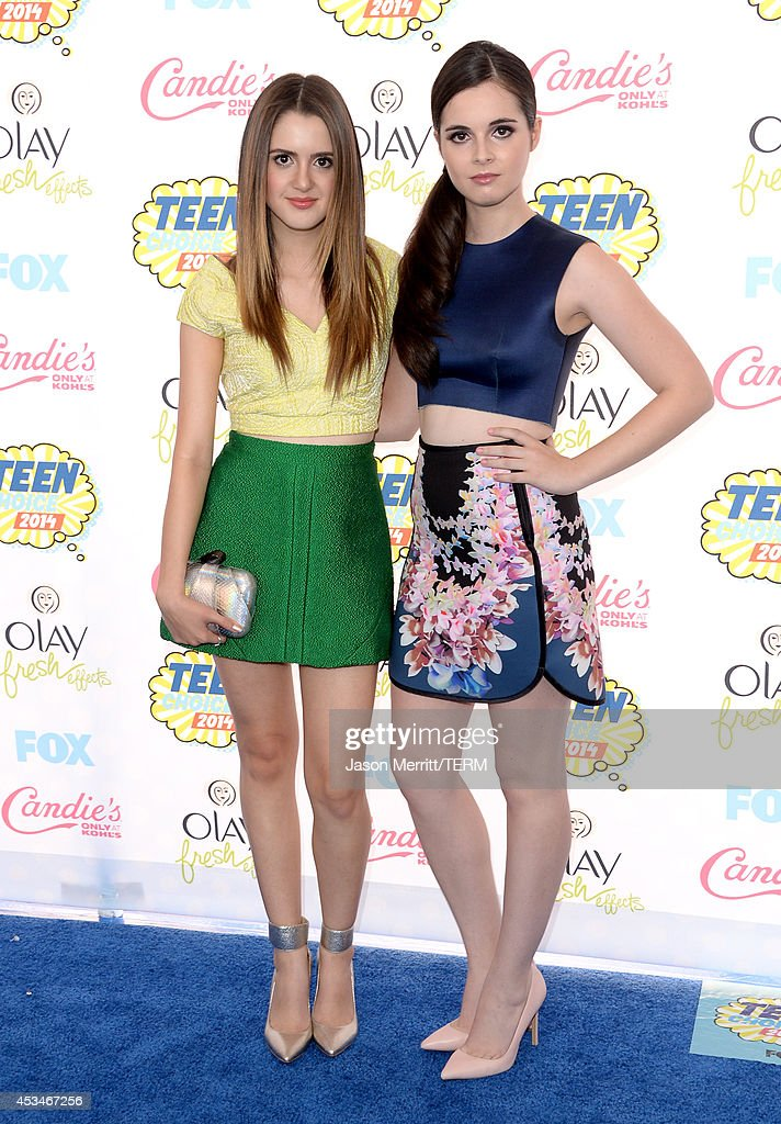 Actresses Laura Marano and Vanessa Marano attend FOX's 2014 Teen Choice Awards at The Shrine Auditorium on August 10, 2014 in Los Angeles, California.