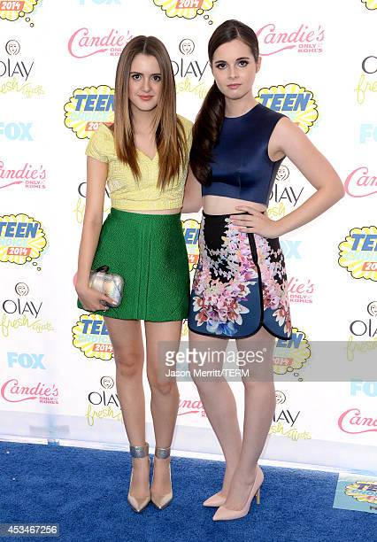 Actresses Laura Marano and Vanessa Marano attend FOX's 2014 Teen Choice Awards at The Shrine Auditorium on August 10 2014 in Los Angeles California