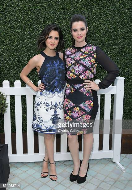 Actresses Laura Marano and Vanessa Marano attend the Ted Baker London Spring/ Summer 17 Launch Dinner at The Chamberlain on March 16 2017 in West...