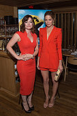 Actresses Laura Michelle Kelly and Michelle Monaghan attend the Dinner Honoring the Women of 'Pixels' at Upland on July 20 2015 in New York City