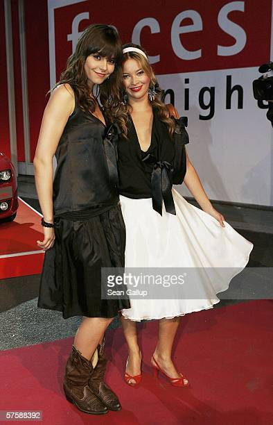 Actresses Laura Osswald and Susan Hoecke arrive at the New Faces Award on May 11 2006 at the Berlin Congress Center in Berlin Germany