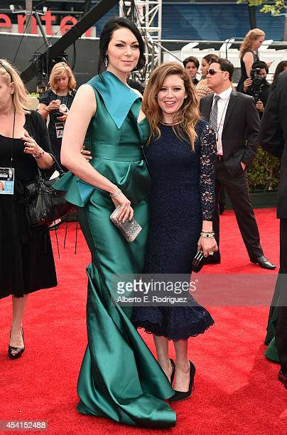 Actresses Laura Prepon and Natasha Lyonne attend the 66th Annual Primetime Emmy Awards held at the Nokia Theatre LA Live on August 25 2014 in Los...