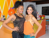 Actresses Lauren London and Jennifer Freeman attend Isabella Watson's birthday party at The COOP on October 22 2011 in Studio City California