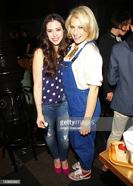 Actresses Lauren Miller and Ari Graynor attend Glamour Presents 'These Girls' at Joe's Pub on October 8 2012 in New York City