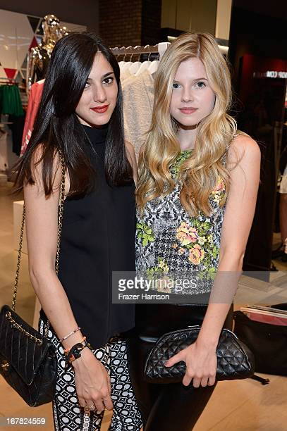 Actresses Lauren Perez and Ana MulvoyTen attend BAFTA Los Angeles and Sir Philip Green Celebrate the British New Wave at Topshop Topman at The Grove...