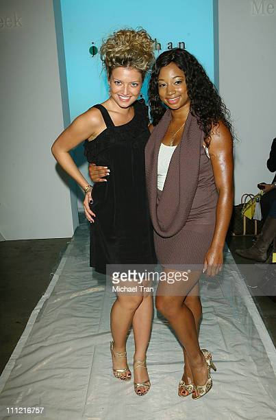 Actresses Lauren Storm and Monique Coleman at Jenny Han Spring 2008 collection during Mercedes Benz Fashion Week held at Smashbox Studios on October...