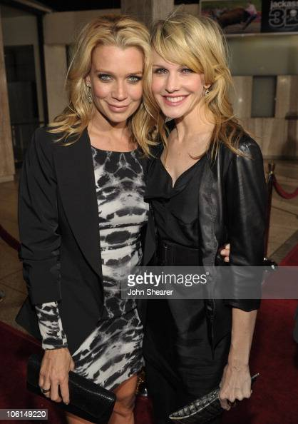 Actresses Laurie Holden and Kathryn Morris attend the AMC premiere of 'The Walking Dead' at ArcLight Cinemas Cinerama Dome on October 26 2010 in...