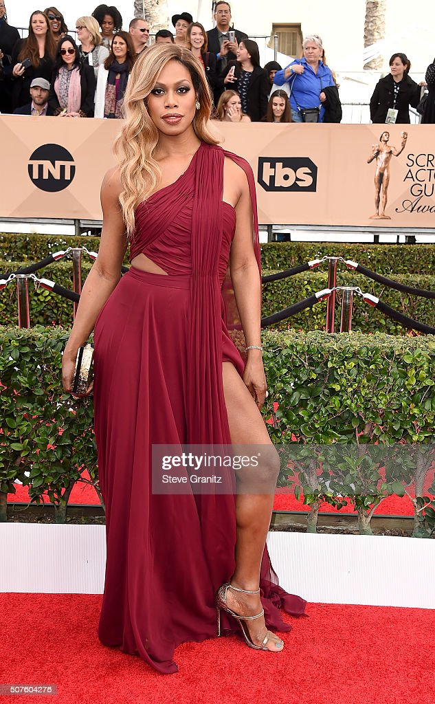 Actresses Laverne Cox attends the 22nd Annual Screen Actors Guild Awards at The Shrine Auditorium on January 30 2016 in Los Angeles California