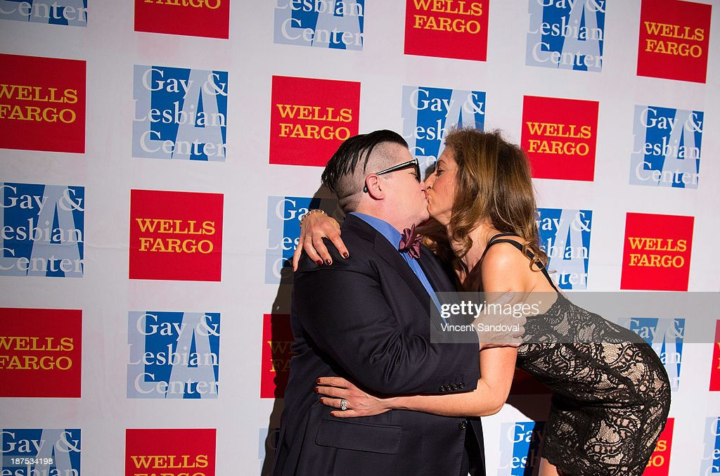 Actresses Lea DeLaria (L) and <a gi-track='captionPersonalityLinkClicked' href=/galleries/search?phrase=Alysia+Reiner&family=editorial&specificpeople=655685 ng-click='$event.stopPropagation()'>Alysia Reiner</a> attend the L.A. Gay & Lesbian Center's 42nd Anniversary Vanguard Awards Gala at Westin Bonaventure Hotel on November 9, 2013 in Los Angeles, California.