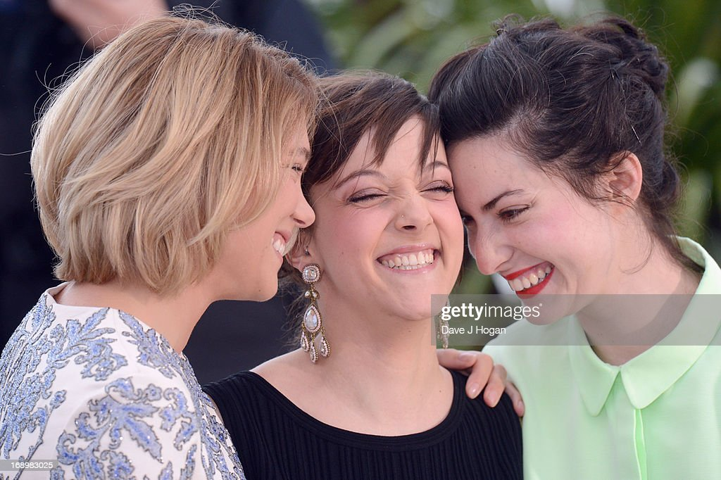 Actresses Lea Seydoux, Camille Lellouche and director Rebecca Zlotowski attend the 'Grand Central' Photocall during The 66th Annual Cannes Film Festival at Palais des Festivals on May 18, 2013 in Cannes, France.