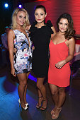 Actresses Leah Pipes Phoebe Tonkin and Danielle Campbell attend the MTV Fandom Awards San Diego at PETCO Park on July 9 2015 in San Diego California