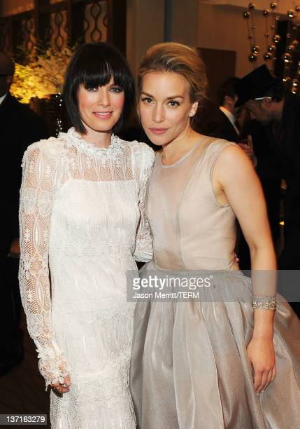 Actresses Lena Headey and Piper Perabo arrive at HBO's Post 2012 Golden Globe Awards Party at Circa 55 Restaurant on January 15 2012 in Beverly Hills...