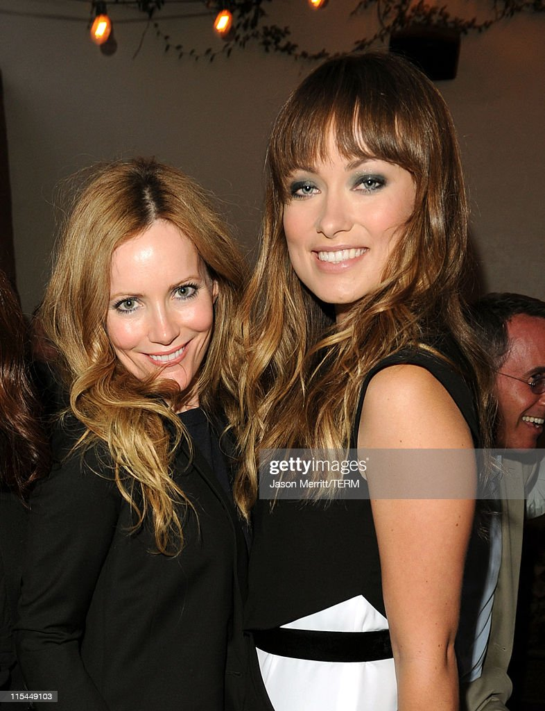Actresses <a gi-track='captionPersonalityLinkClicked' href=/galleries/search?phrase=Leslie+Mann&family=editorial&specificpeople=595973 ng-click='$event.stopPropagation()'>Leslie Mann</a> (L) and <a gi-track='captionPersonalityLinkClicked' href=/galleries/search?phrase=Olivia+Wilde&family=editorial&specificpeople=235399 ng-click='$event.stopPropagation()'>Olivia Wilde</a> attend the Details Magazine/ Ryan Reynolds Party held at Dominick's Restaurant on June 6, 2011 in Los Angeles, California.