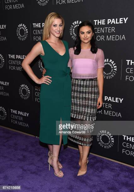 Actresses Lili Reinhart and Camila Mendes arrive at the 2017 PaleyLive LA Spring Season 'Riverdale' Screening and Conversation at The Paley Center...