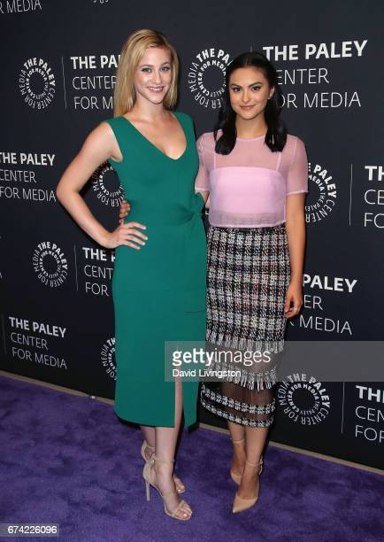 Actresses Lili Reinhart and Camila Mendes attend the 2017 PaleyLive LA Spring Season 'Riverdale' screening and conversation at The Paley Center for...